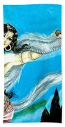 Dragon Dancer Beach Towel