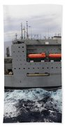Dry Cargo And Ammunition Ship Usns Beach Towel