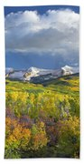 East Beckwith Mountain Flanked By Fall Beach Towel