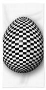 Egg Checkered Beach Towel