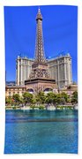 Eiffel Tower Las Vegas Beach Towel