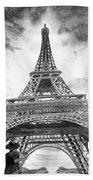 Eiffel Tower Paris France Beach Towel