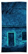Enchanted Moonlight Cottage Beach Towel