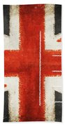 England Flag Postcard Beach Towel