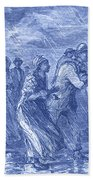 Escaping To Underground Railroad Beach Towel by Photo Researchers