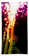 Explosion Of Lights Beach Towel