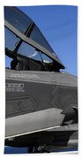 F-35b Lightning II Variants Are Secured Beach Towel