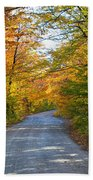 Fall In New England Beach Towel
