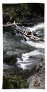 Fast Moving Firehole River Beach Towel