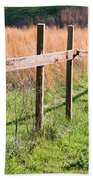 Fence Perspective Beach Towel