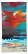 Fire Sky Beach Towel
