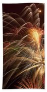 Fireworks In Night Sky Beach Towel