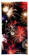 Fireworks Medley Beach Towel