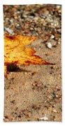 Floating Autumn Leaf Beach Towel