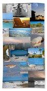 Florida Collage Beach Towel
