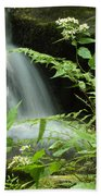 Flowers And Falls Beach Towel