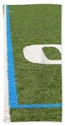 Football Field Ten Beach Towel