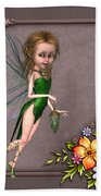 Forest Fairy In The Garden Beach Towel