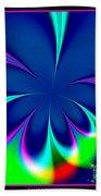 Fractal 24 Floral Fleur De Lis Beach Towel