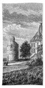 France: Wine Ch�teau, 1868 Beach Towel
