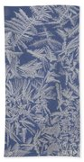 Frost On A Window Beach Towel