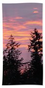 Frosted Morning Silhouette Beach Towel