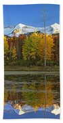 Full Moon Over East Beckwith Mountain Beach Towel
