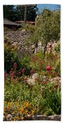 Gardens In Carmel Monastery Beach Towel