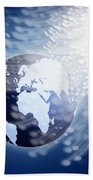 Globe With Fiber Optics Beach Towel