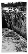 Great Falls Virginia Bw Beach Towel