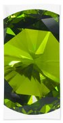 Green Gem Isolated Beach Towel
