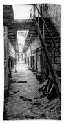 Grim Cell Block In Philadelphia Eastern State Penitentiary Beach Towel