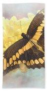 Grunge Giant Swallowtail Beach Towel