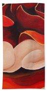 Healing Painting Baby Sleeping In A Rose Beach Towel