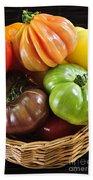 Heirloom Tomatoes Beach Towel by Elena Elisseeva