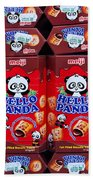 Hello Panda Biscuits Beach Towel