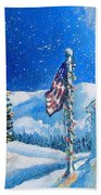 Home For The Holidays Beach Towel