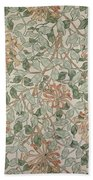 Honeysuckle Design Beach Towel by William Morris