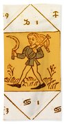 Horoscope Types, Engel, 1488 Beach Towel
