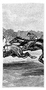 Horse Racing, 1900 Beach Towel