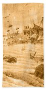 Hurricane, 1815 Beach Towel