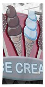 Ice Cream Sign Beach Towel