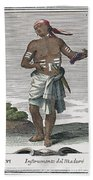 Indian Percussive Rattle Beach Towel