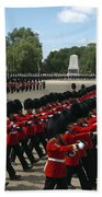 Irish Guards March Pass During The Last Beach Towel by Andrew Chittock