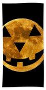 Jack-o-lantern Moon Beach Towel