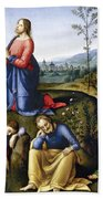 Jesus: Agony In The Garden Beach Sheet