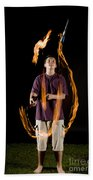 Juggling Fire Beach Towel