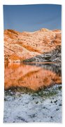 June Snowfall At Angel Lake Beach Towel