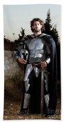 Knight In Shining Armour Beach Towel by Yedidya yos mizrachi