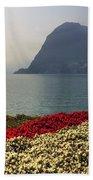 Lake Lugano - Monte Salvatore Beach Towel by Joana Kruse